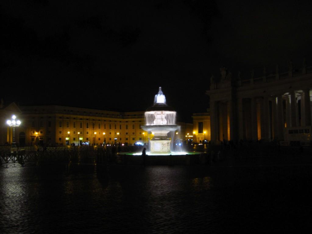 Pl. Św. Piotra nocą